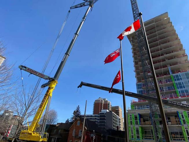 Tower crane dismantling / Ottawa