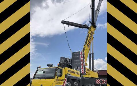 500 ton crane in action