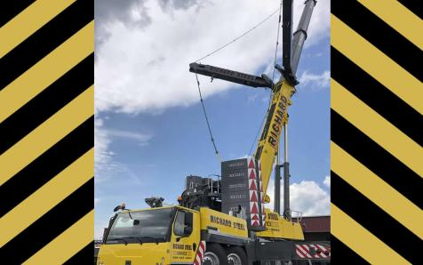 500 ton crane in action